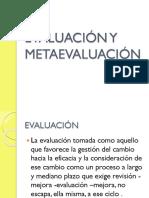 Evaluación y Metaevaluación