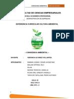 Facultad de Ciencias Empresariales - Cultura Ambiental
