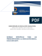 Manual de Preinscripciones Educ Basica 2018_2019