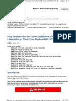 Procedimiento Para La Correcta Instalación de Dentados Eslabones Maestros de Grandes Tractores de Cadenas {4169, 4171}