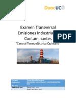 Examen Transversal Emisiones Industriales Contaminantes