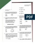 Examen Admision UNI Matematicas II (93-2)