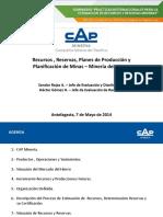10 - Recursos, Reservas, planes .. Mineria Hierro - S. Rojas y H. Gomez - CAP Mineria.pdf