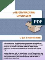 Subjetividade Na Linguagem