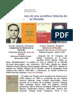 Dos Traducciones de Una Soviética Historia de La Filosofía