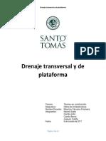 Drenaje Transversal y de Plataforma