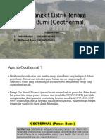 Pembangkit Listrik Tenaga Panas Bumi (Geothermal)