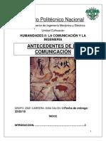 Antecedentes de la comunicacion
