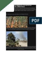 Contaminacion Ambiental en Distritos Azucareros de Lambayeque