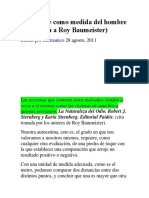 El Hombre Como Medida Del Hombre-Entrevista a Roy Baumeister-_Germánico