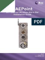 Manual RAEPoint Installation Guide DC Alarmbar Rev B English