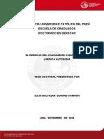 Derecho Del Consumidor y Sus Efectos en El Derecho Civil - Juliuo Durand