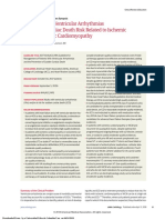 Management of Ventricular Arrhythmias and Sudden Cardiac Death Risk Related to Ischemic and Nonischemic Cardiomyopathy