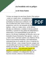 La Democracia Brasileña Está en Peligro_Boaventura de Sousa Santos