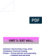Unit 5_EAT WELL