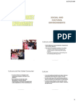 4. World Market Environment - Social & Cultural