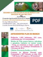 Resumen Actualizacion de Plan de Manejo y POA Cañada Galana