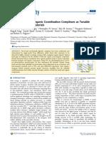 Hybrid Organic−Inorganic Coordination Complexes as Tunable