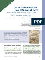 Cantón y Saez. Educación patrimonial, identidad y calidad educativa