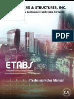 Etabs - Technical Notes Manual