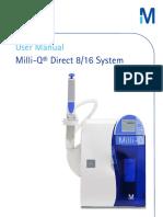 FTPF11486 Milli Q Direct 8 16 System Manual en V3.0