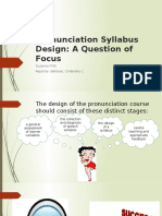 Pronunciation Syllabus Design a Question of Focus