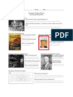 worksheet - world war 2
