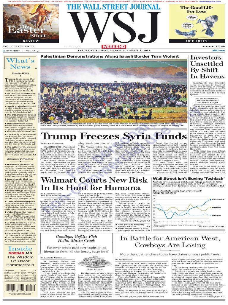 Wallstreetjournal20180331thewallstreetjournal loans mortgage loan fandeluxe Images