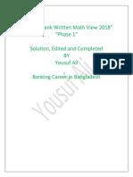Recent Written Math View 2018