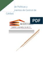 1.Manual de Políticas y Procedimientos de Control de Calidad (Autoguardado)
