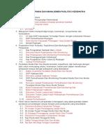 Daftar Instrumen Penilaian FKTP 2018