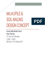 Micropile and Soil Nailing Design Concept