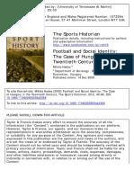 The Sports Historian Volume 20 Issue 2 2000 [Doi 10.1080_17460260009443368] Hadas, Miklós -- Football and Social Identity- The Case of Hungary in the Twentieth Century