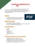 Sistema Tributario de La Democracia en El Perú
