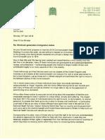 Windrush letter