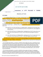 Reinstatement of Torres