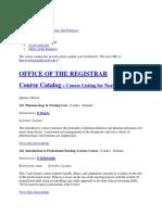 Nursing Course Catalog Ucsf