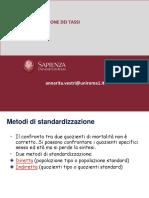 Standardizzazione Dei Tassi