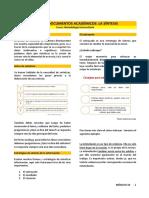 S10 Lectura - Usando Documentos Académicos. Sintetizando La Información.