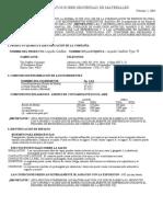 Gasflux MSDS TYPE W Spanish