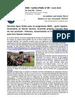 NIOS - Lettre d'info n°18 - La nature est notre force - (Erasmus+ 2015-2018)