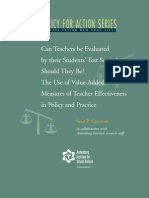The Use of Value-Added Measures of Teacher Effectiveness in Policy and Practice