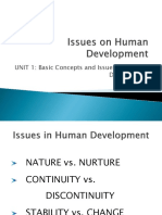 1.3 Issues on Human Development