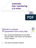 06 Urine Extravascular Administration