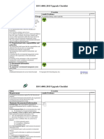 ISO 14001 2015 Upgrade Checklist