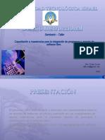 Diseño Instruccional_Capacitación a maestros/as para la integración de programas y  manejo de software libre