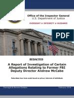 Andrew McCabe OIG report