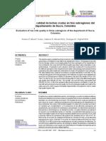 Evaluación de la calidad de leches crudas en tres subregiones del departamento de Sucre, Colombia