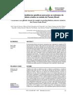 Parâmetros e tendências genéticas para peso ao sobreano de animais Nelore criados no estado do Paraná, Brasil