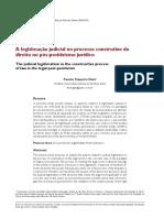Fausto Siqueira Gaia - A Legitimação Judicial No Processo Construtivo Do Direito No Pós Positivismo Jurídico